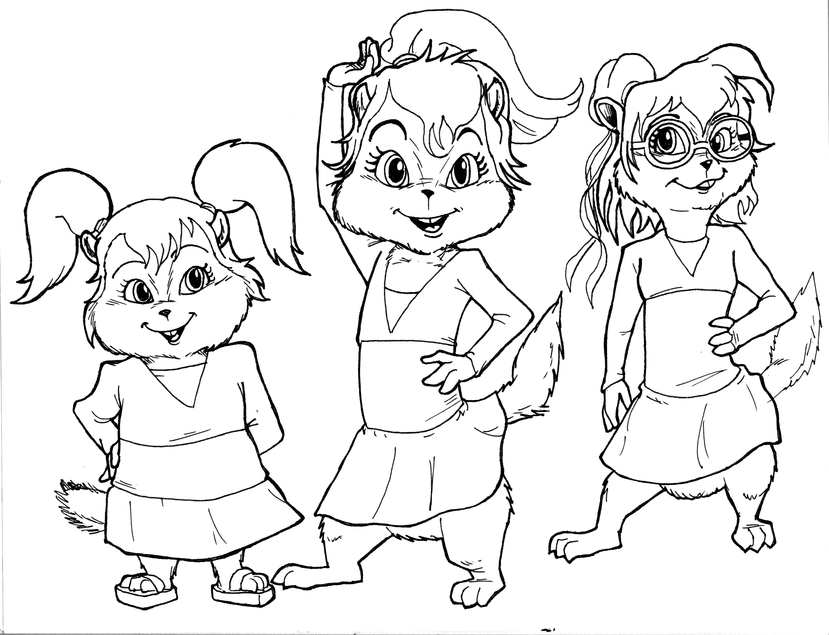Chipettes 05 03 10Alvin And The Chipmunks And The Chipettes Coloring Pages