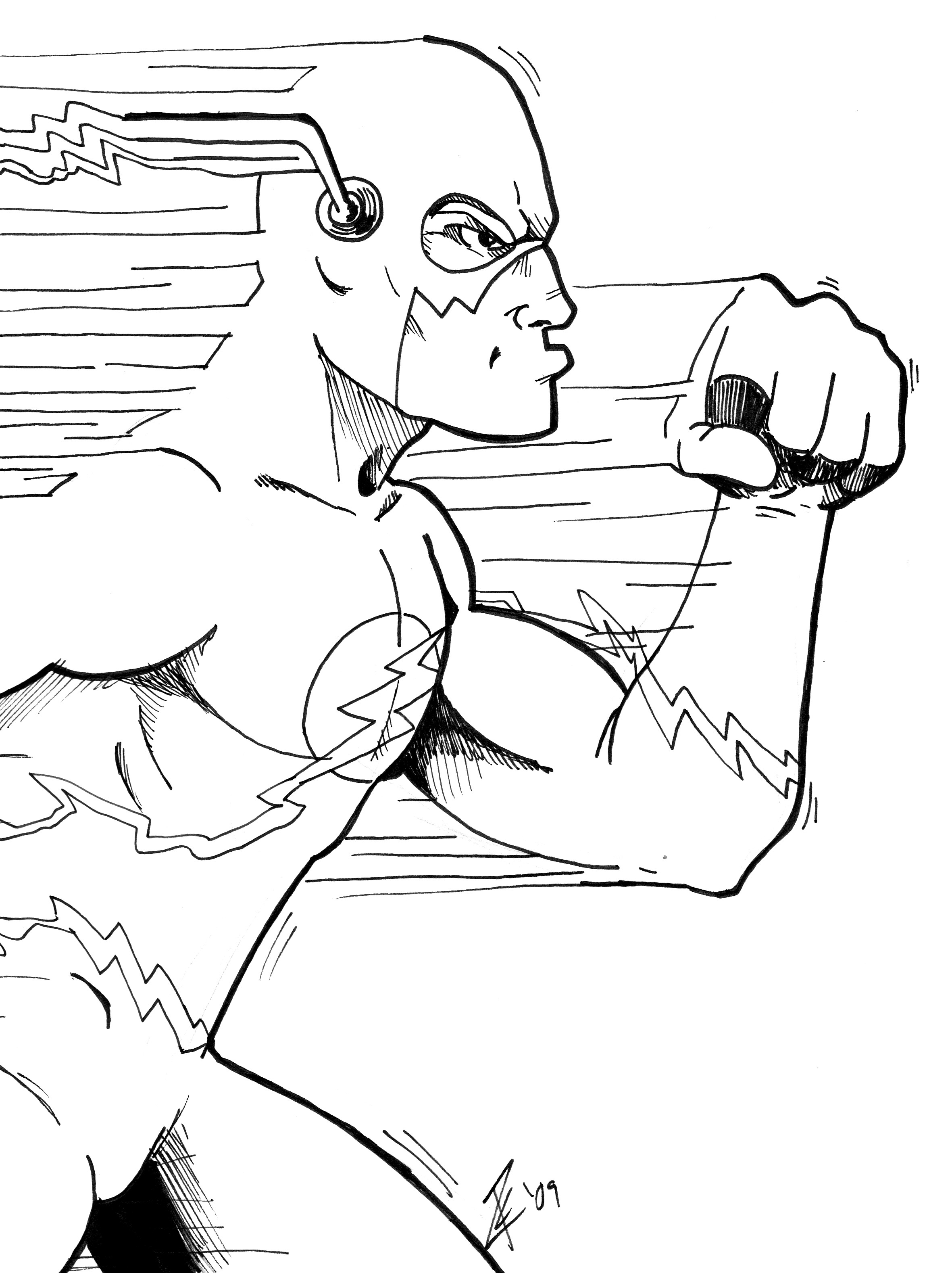 flash coloring pages marvel - photo#24