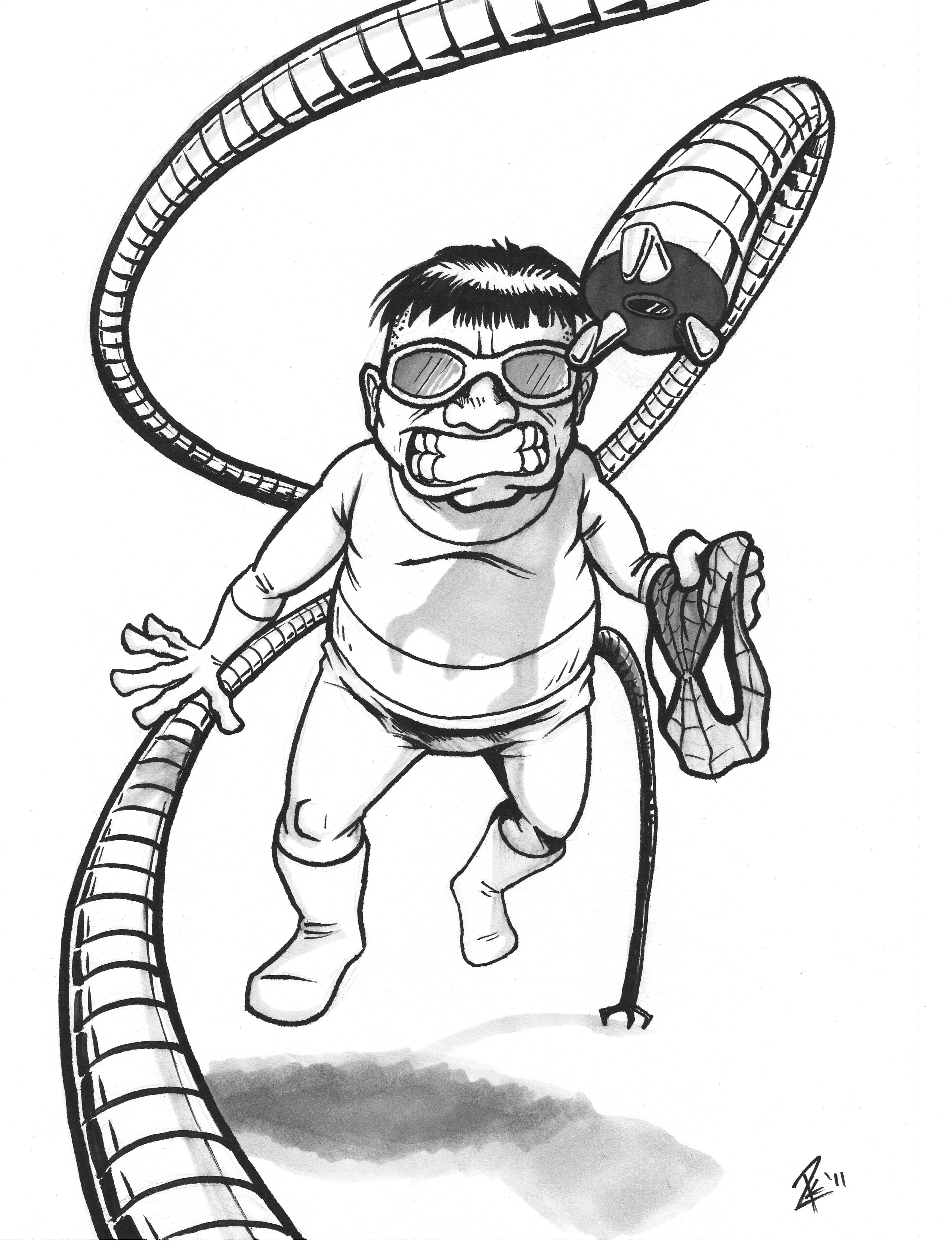 doctor octopus coloring pages - ciguea colouring pages page 2